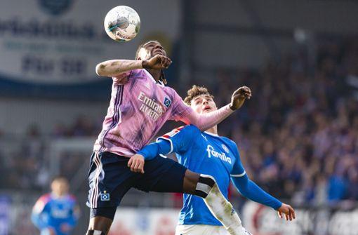 Hamburger SV rettet Punkt, Sandhausen gewinnt