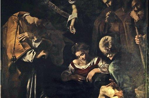 """Sieht aus wie das Original  von 1609, ist es aber nicht:   Als perfekte Kopie hängt Caravaggios Weihnachtsgemälde """"Die Geburt Christi""""   wieder   in Palermo. Foto: picture alliance"""