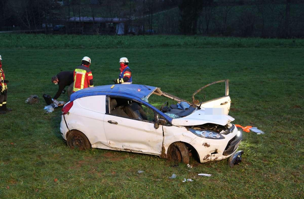 Der Unfall ereignete sich nahe Donzdorf. Foto: 7aktuell.de/Bernd Fausel