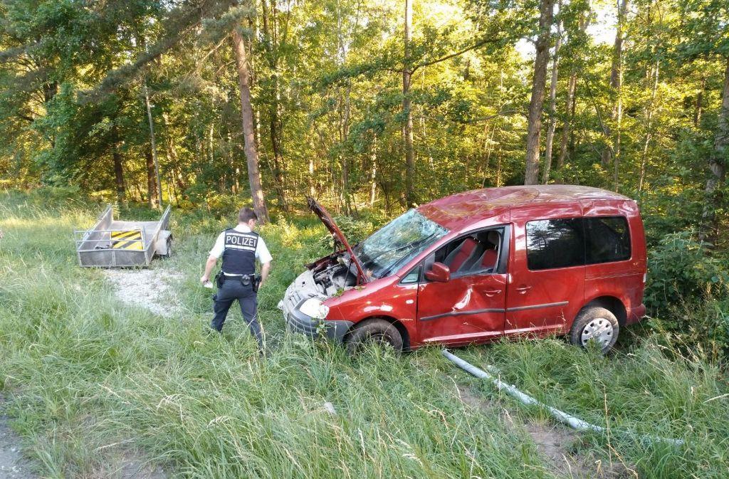 Der Unfall geschah auf der Wildparkstraße in Gerlingen. Foto: 7aktuell.de/Oskar Eyb