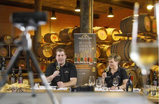 So lief die erste Online-Weinprobe der Remstalkellerei