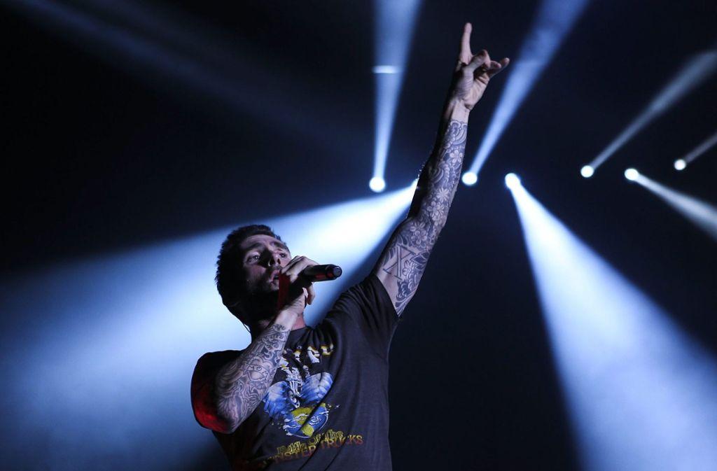 Adam Levine, Sänger der US-Band Maroon 5 Foto: LUSA