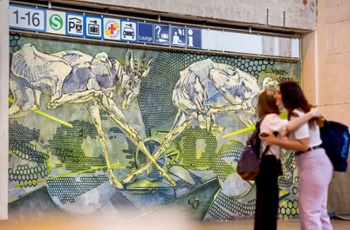 Hinterhofkunst im Hauptbahnhof