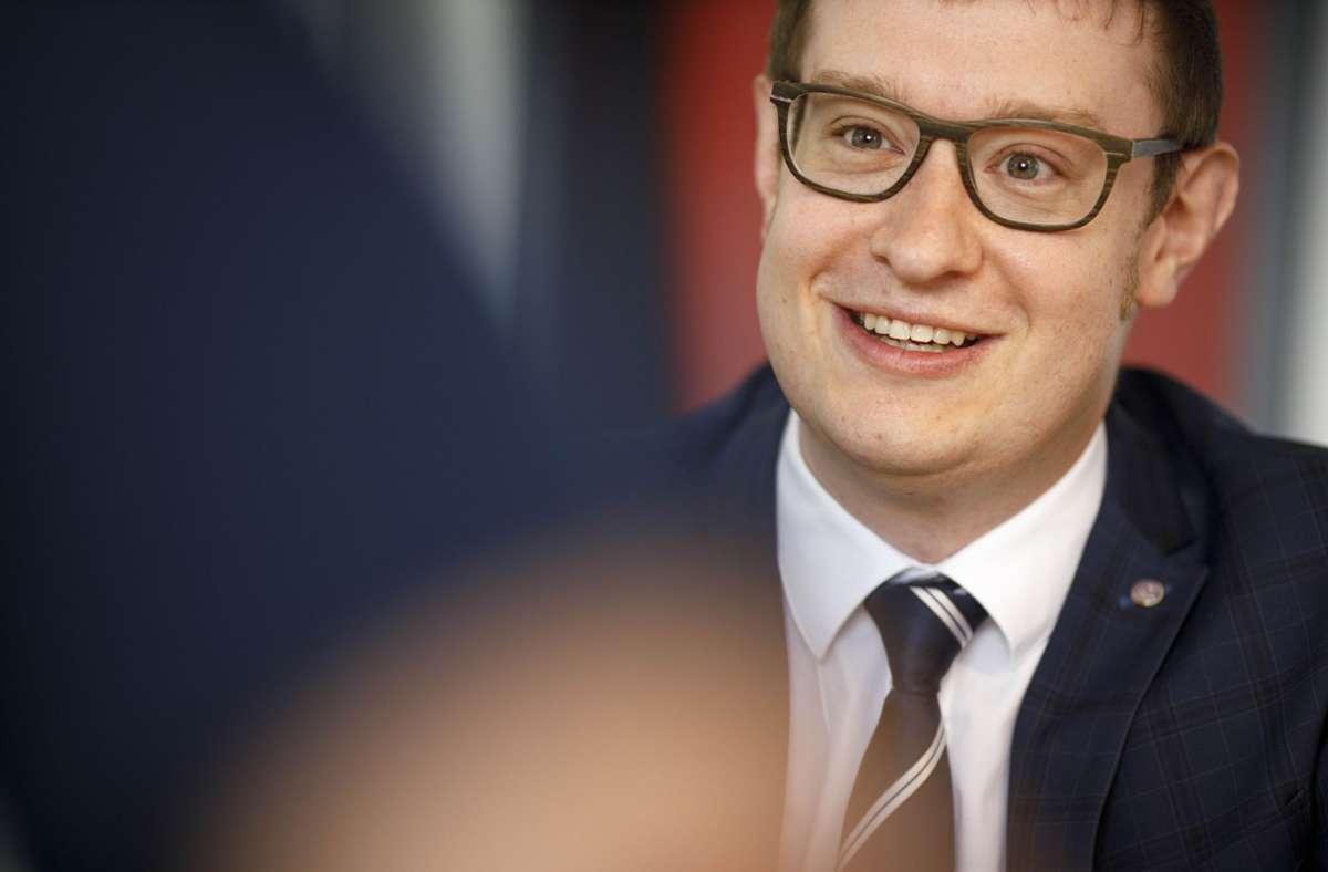 Maximilian Friedrich – klarer Sieger bei der OB-Wahl in Backnang. Foto: Gottfried Stoppel/Gottfried Stoppel
