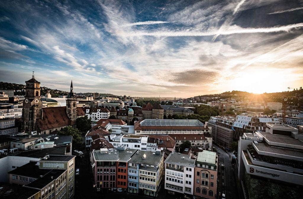 Blick vom Stuttgarter Rathaus – von dort muss mehr Dynamik ausgehen. Foto: Lichtgut/Leif Piechowski