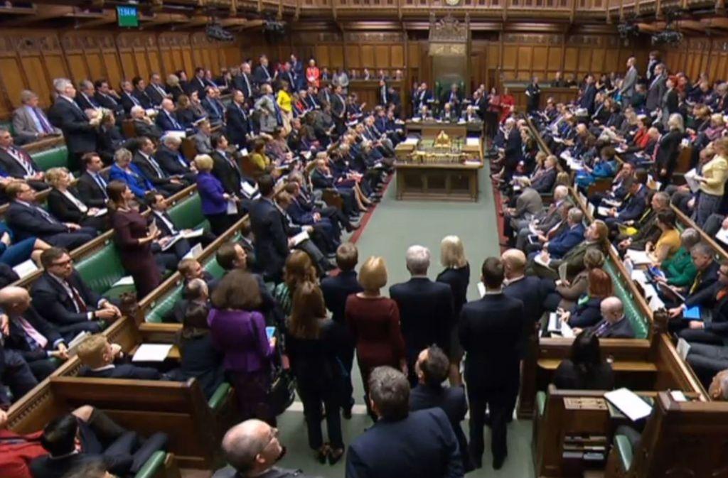 Das britische Unterhaus Foto: dpa