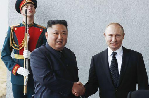 Erster Gipfel zwischen Putin und Kim