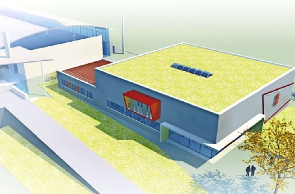 So könnte das Sportvereinszentrum des TSV Wolfschlugen neben der Sporthalle aussehen. Die detaillierten Planungen sind jedoch noch nicht abgeschlossen. Foto: TSV Wolfschlugen