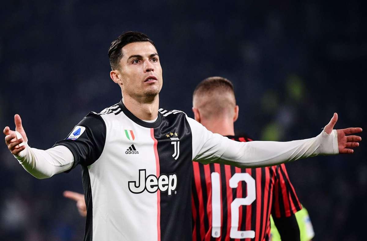Cristiano Ronaldo befindet sich in Quarantäne. (Symbolbild) Foto: AFP/MARCO BERTORELLO