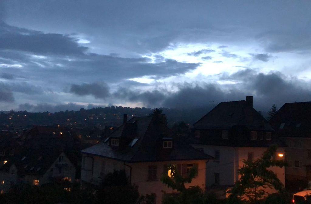 Ein heftiges Gewitter ging am 7. Juni über Stuttgart nieder. Foto: Privat