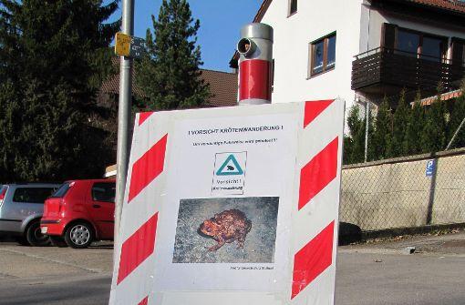 Anwohner ärgert sich über angeblich vergessene Krötenschilder