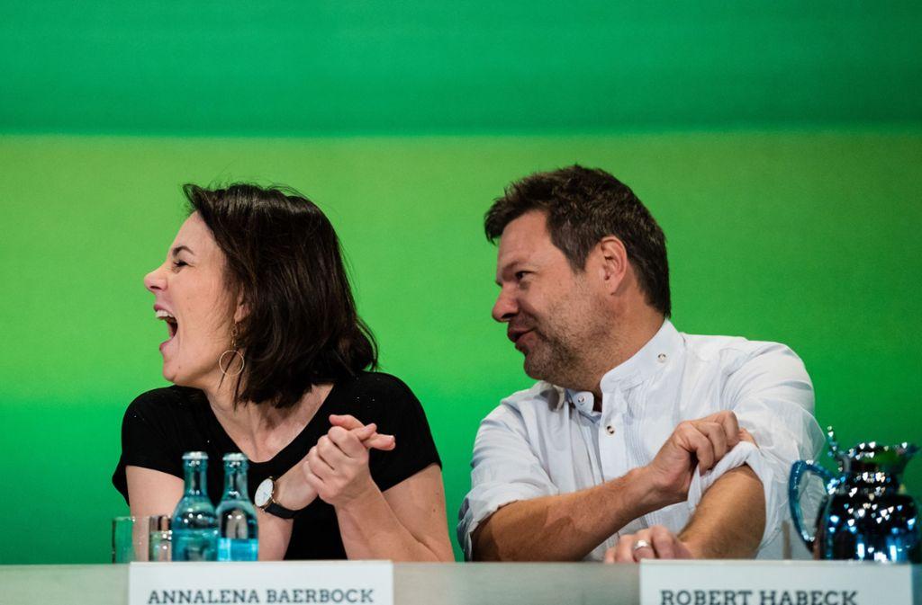 Den Grünen-Chefs Annalena Baerbock  und Robert Habeck ist es gelungen, die parteiinternen Flügelkämpfe  zu befrieden. Foto: Getty