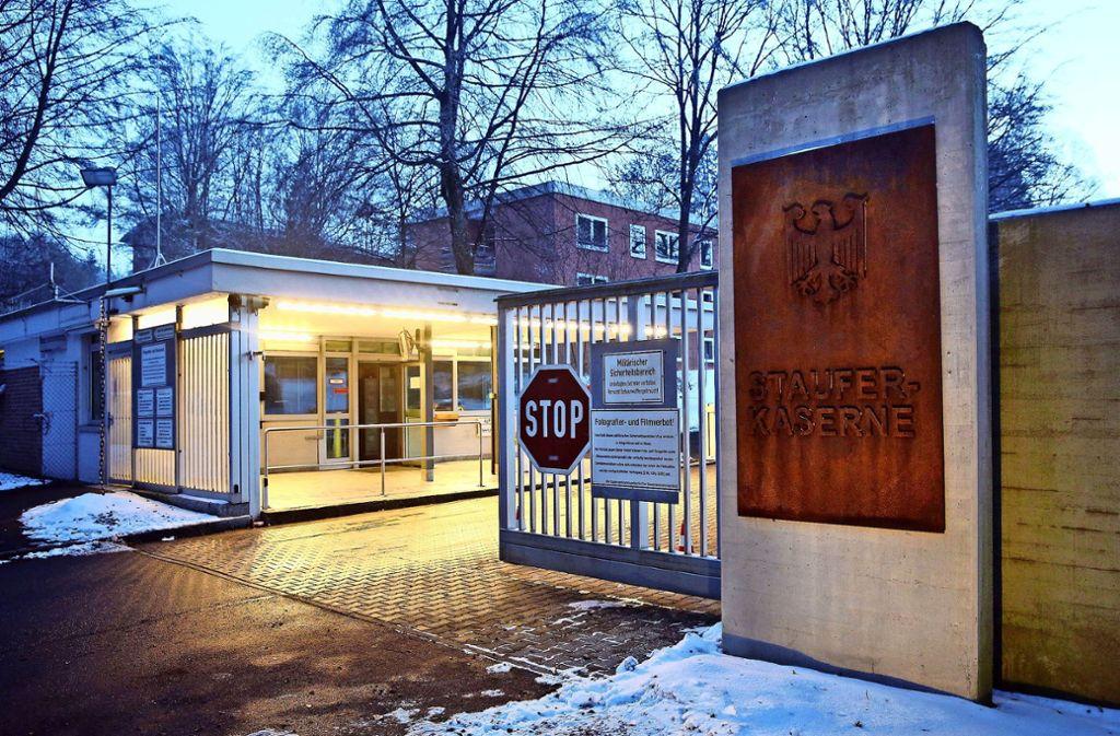 Der Verurteilte hatte Soldaten in der Staufer-Kaserne ohne Anlass strammstehen lassen. Foto: dpa