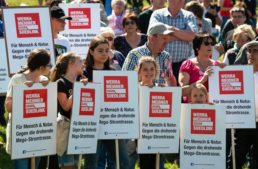 Die geplante Suedlink-Stromtrasse ist umstritten. Foto: dpa