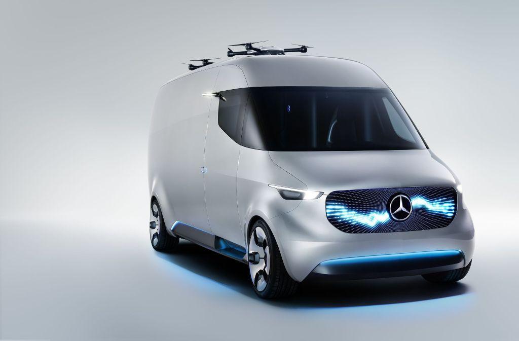So soll die Zukunft im Lieferverkehr aussehen. Foto: Daimler AG