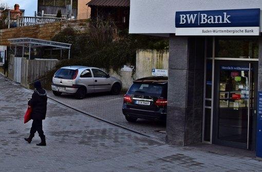Im Flecken wird gemunkelt, BW-Bank-Filiale schließt