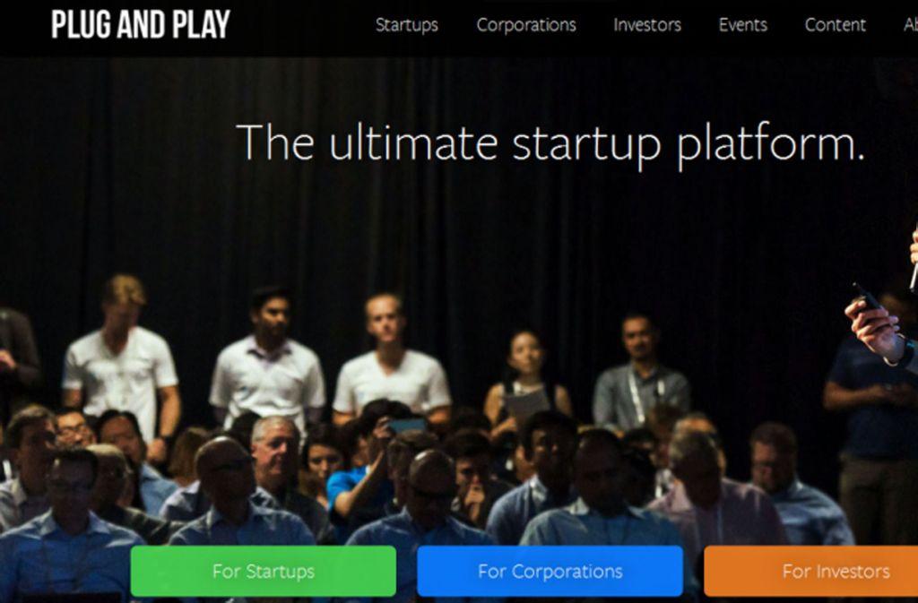 """""""Die ultimative Startup-Plattform"""" - so klingt das, wenn sich der Daimler-Partner Plug and Play anpreist. Foto: Plug and Play"""