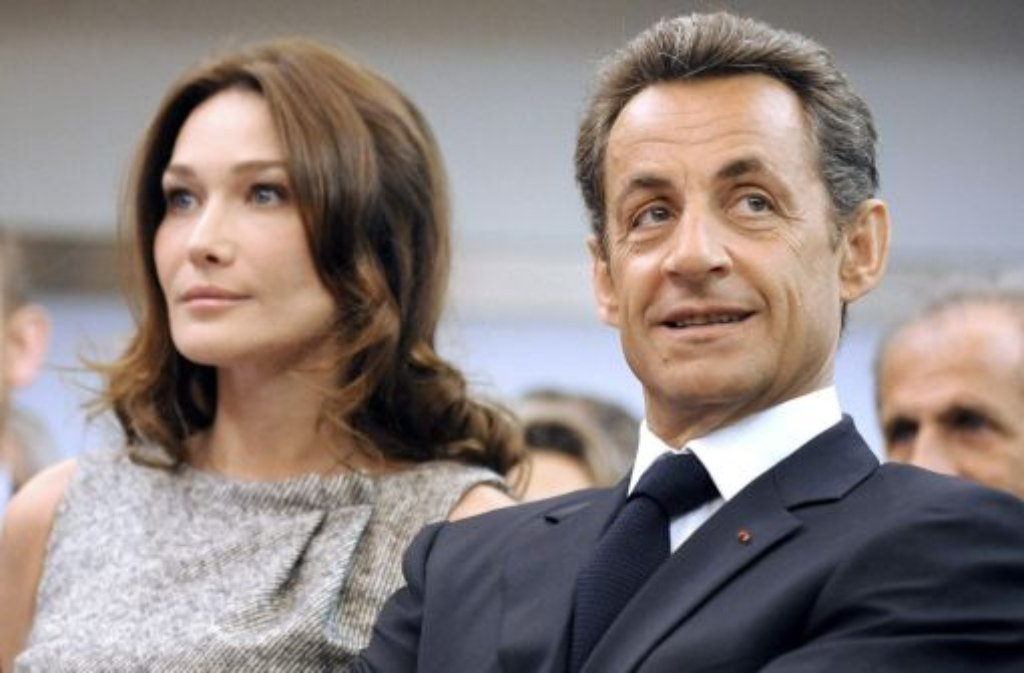Drei- statt Zweisamkeit: Carla Bruni und Nicolas Sarkozy sind am 19. Oktober Eltern einer kleinen Tochter geworden. Foto: dpa