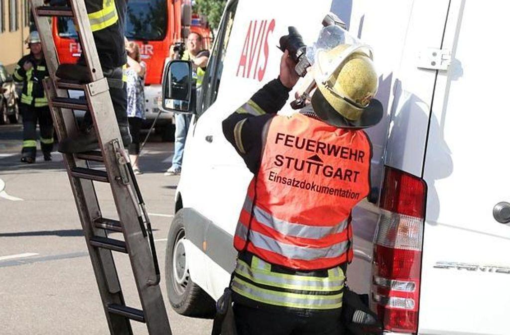 Die Feuerwehr hatte wieder einen aufregenden Einsatz – diesmal im Stuttgarter Westen. Foto: 7aktuell.de