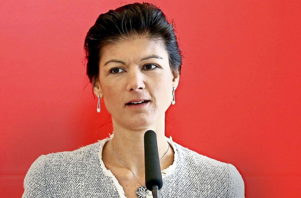 Sahra Wagenknecht, Fraktionschefin der Linken im Bundestag, will ihre Partei vor allem als soziale Opposition gegen die neue Bundesregierung positionieren.Sahra Wagenknecht Foto: dpa