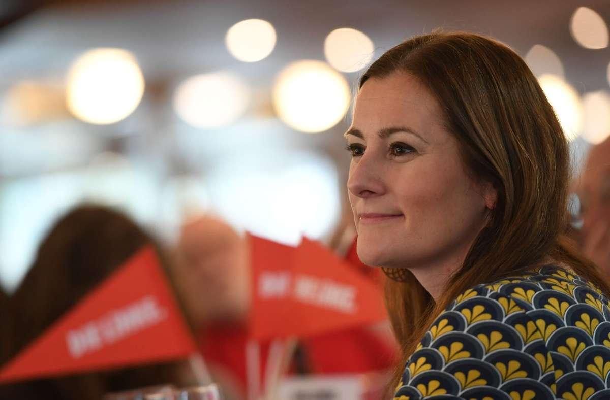 Janine Wissler möchte Bundesvorsitzende der Linken werden. Foto: dpa/Angelika Warmuth