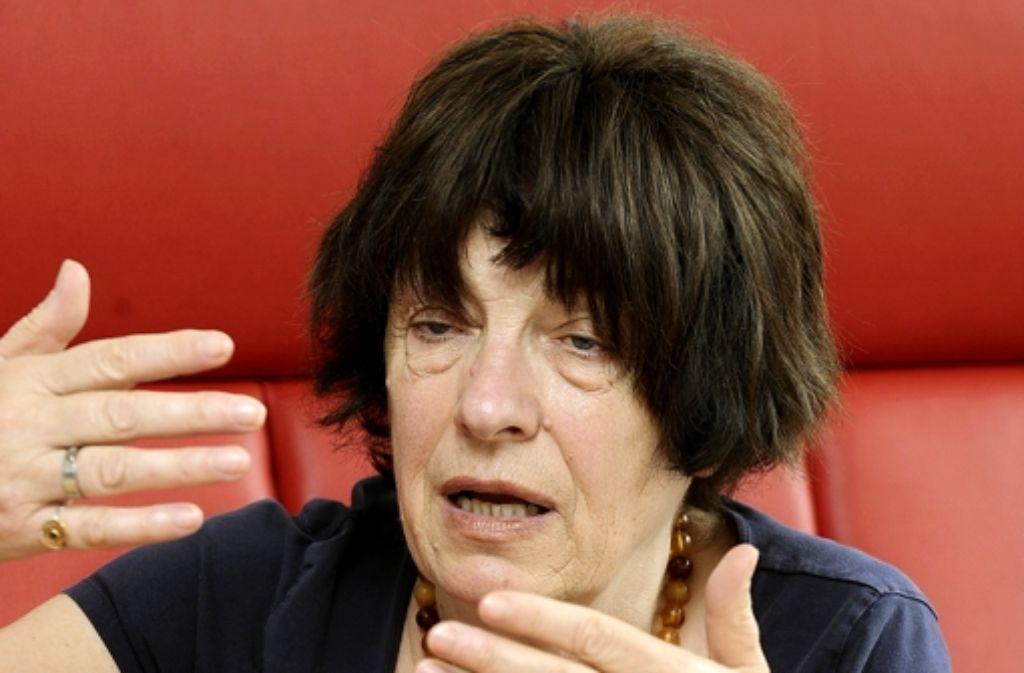 Die Staatsrätin Gisela Erler hält an der Bürgerbeteiligung fest. Foto: dpa