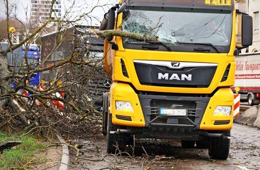 Diese Schäden richtete der Sturm in Stuttgart an