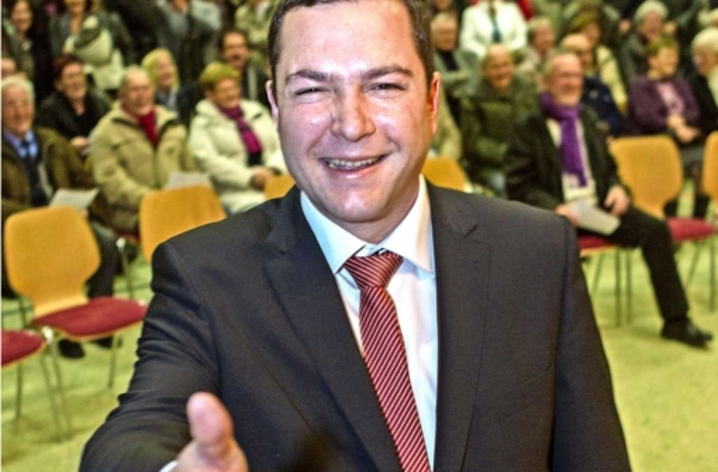 Strahlender Gewinner:   Thomas Riesch siegte bereits im ersten Wahlgang Foto: factum/Weise
