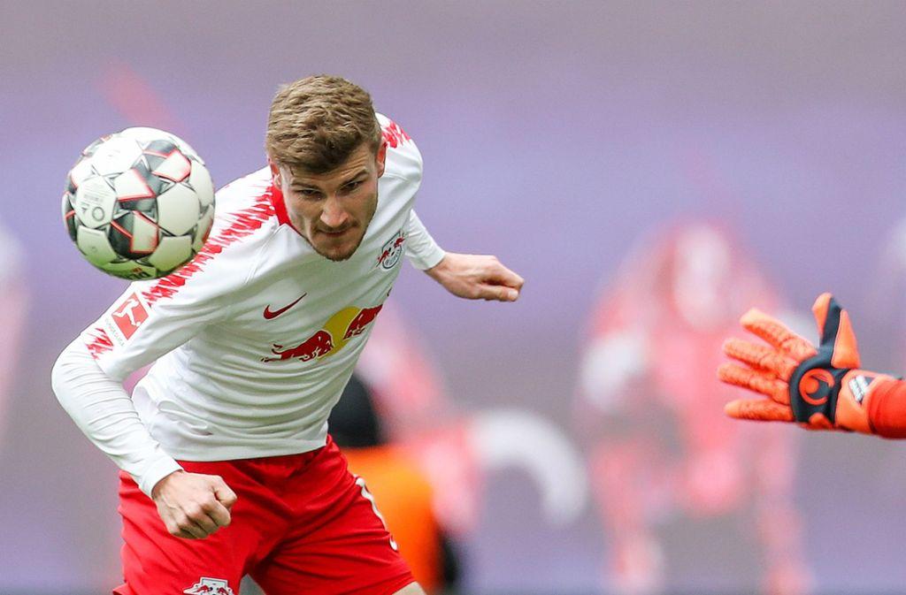 Timo Werner traf gegen Wolfsburg zum 2:0. Foto: dpa-Zentralbild