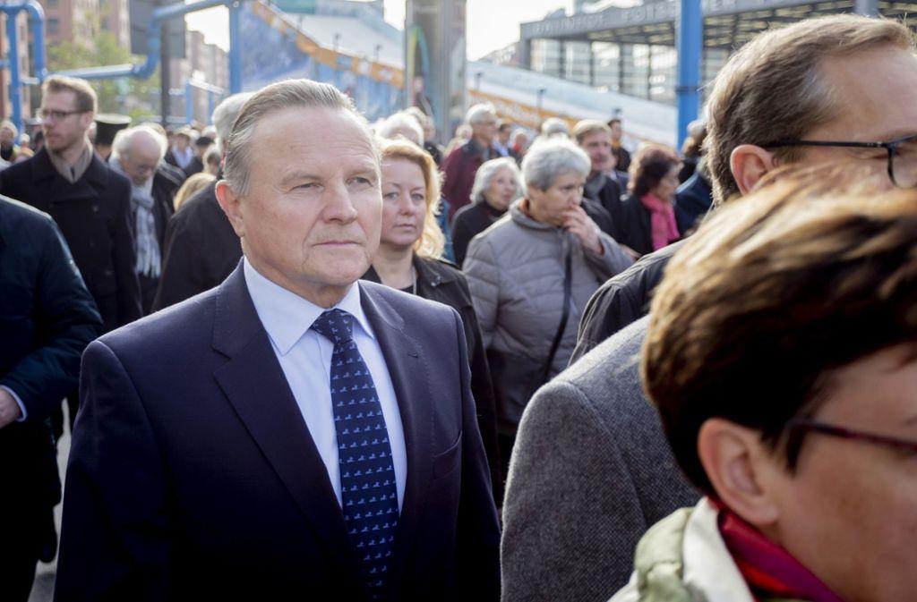 AfD-Vizechef Georg Pazderski beim Gedenkmarsch für die Novemberpogrome Foto: dpa