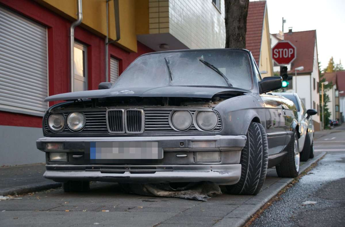 Der Motorblock eines Autos hat am Donnerstagabend in Altbach gebrannt. Foto: SDMG/SDMG / Boehmler