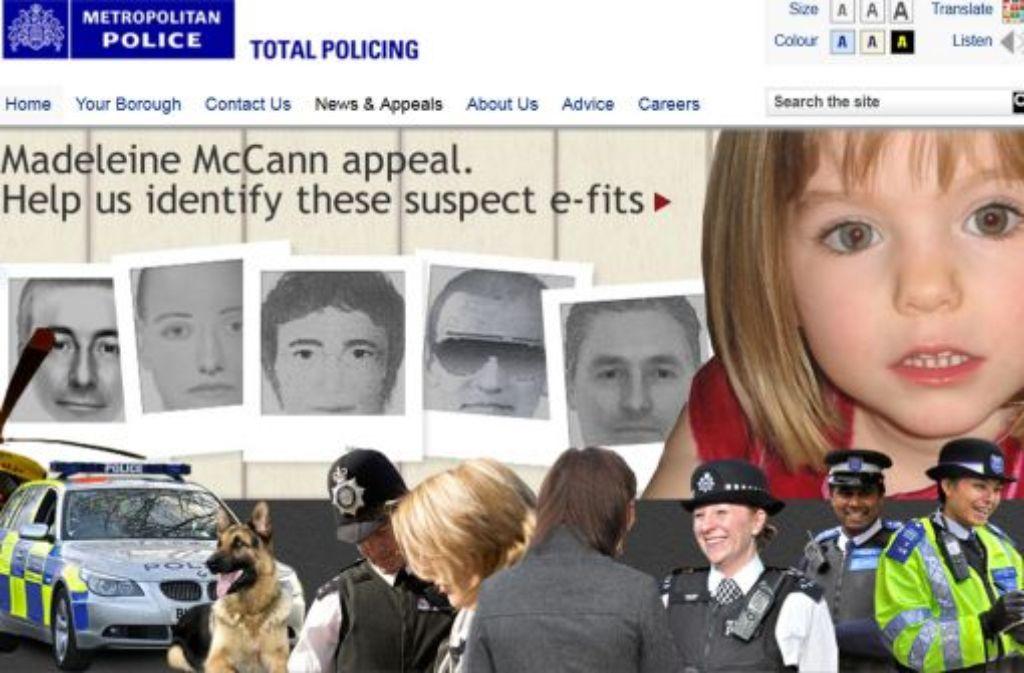 Der emotionale Auftritt der Eltern und die detaillierte Darstellung der Polizei haben gewirkt: Der TV-Aufruf im Fall Maddie brachte in Großbritannien Hunderte Hinweise. Am Mittwoch folgt ein Aufruf im deutschen Fernsehen. Foto: Scotland Yar