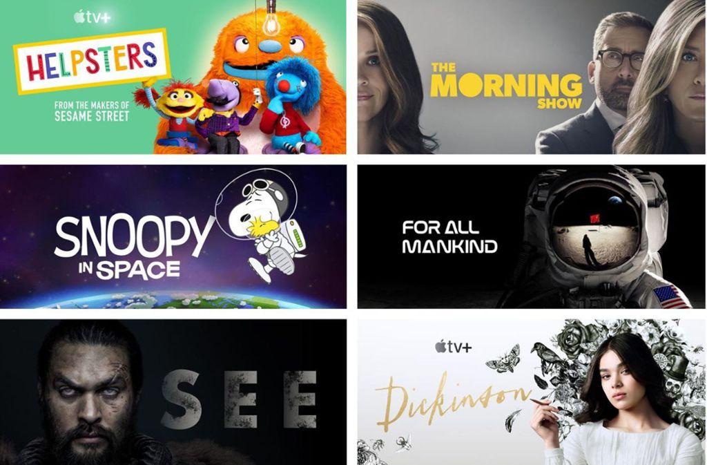Sechs der Serien, mit denen Apple TV+ am 1. November startet Foto: Apple TV+