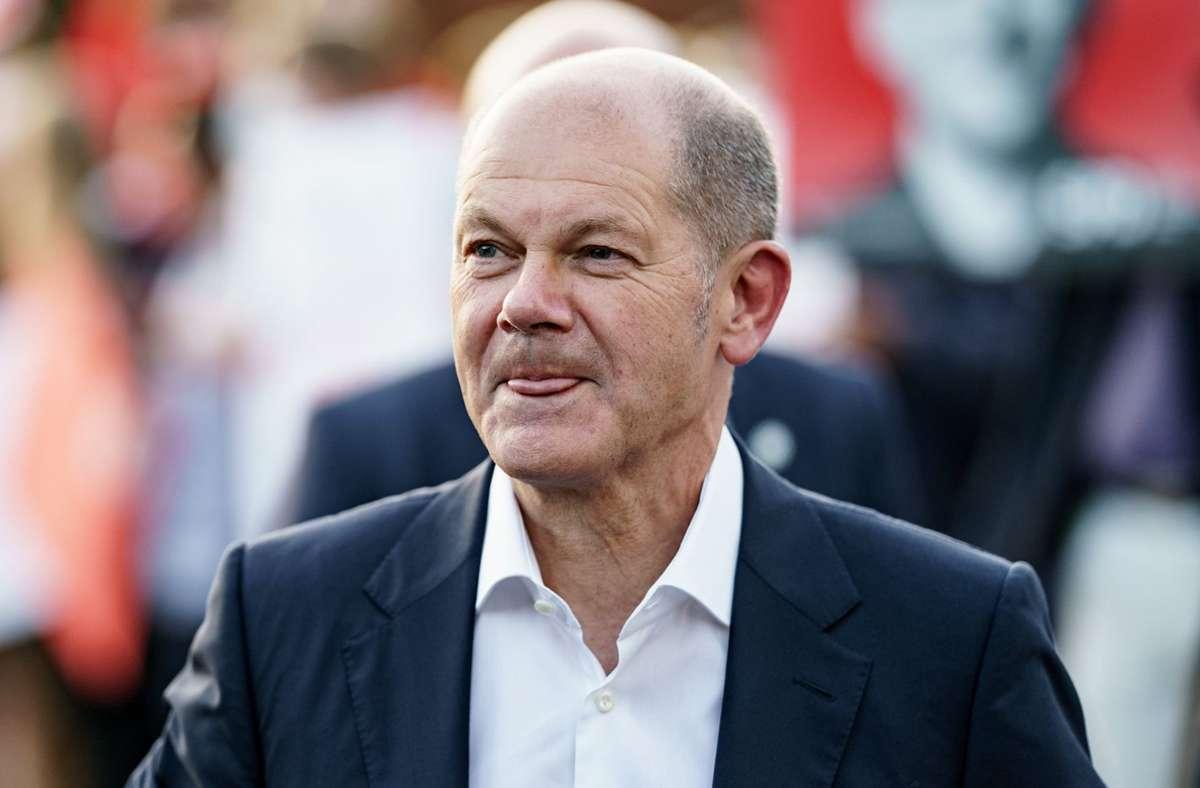 SPD-Kanzlerkandidat Olaf Scholz will die Mehrwertsteuer in der Gastro dauerhaft gesenkt halten. Foto: dpa/Axel Heimken