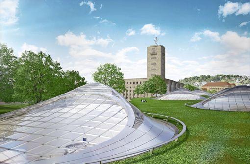 Stadt denkt grün: Rasen auf Bahnhofsdach