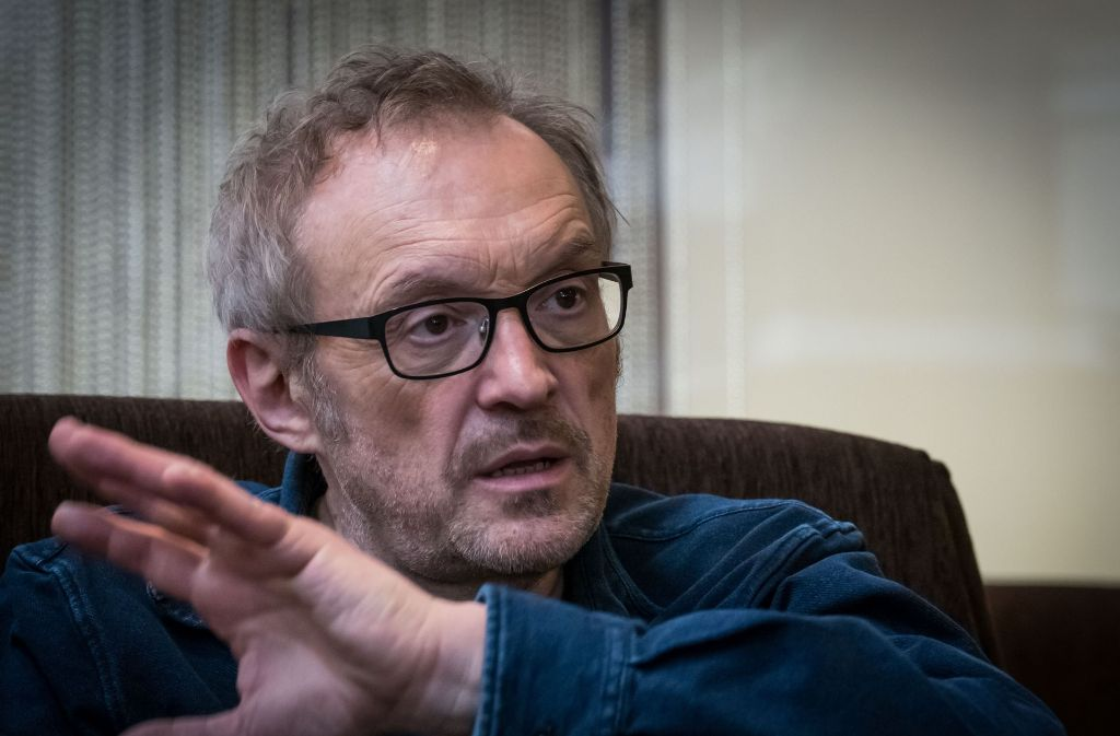 Josef Hader vor der Vorpremiere seines Films beim Gespräch in Stuttgart Foto: Lichtgut/Achim Zweygarth