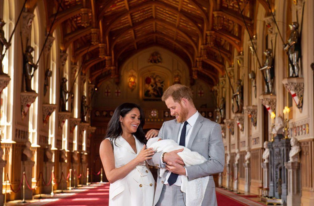 Glückliche Eltern: Herzogin Meghan und Prinz Harry. Foto: AFP