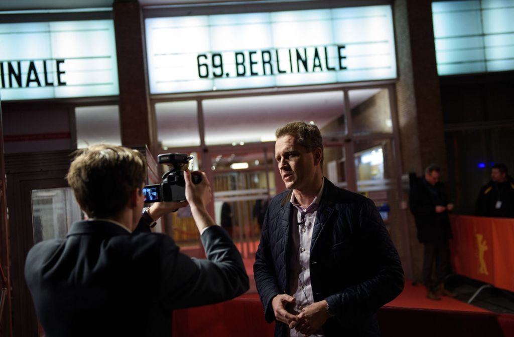 AfD-Bundestagsabgeordnete Petr Bystron erschien zwar vor dem Kino, in dem der Film über das Warschauer Ghetto gezeigt wird, die Vorstellung besuchte er aber nicht. Foto: dpa