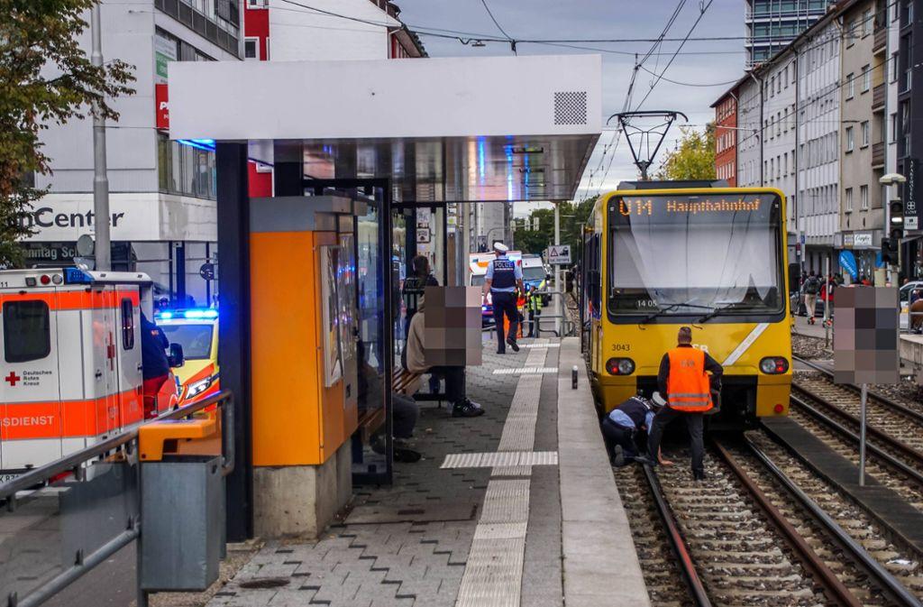 Während des Rettungseinsatzes war die Strecke unterbrochen. Foto: 7aktuell.de/Andreas Werner