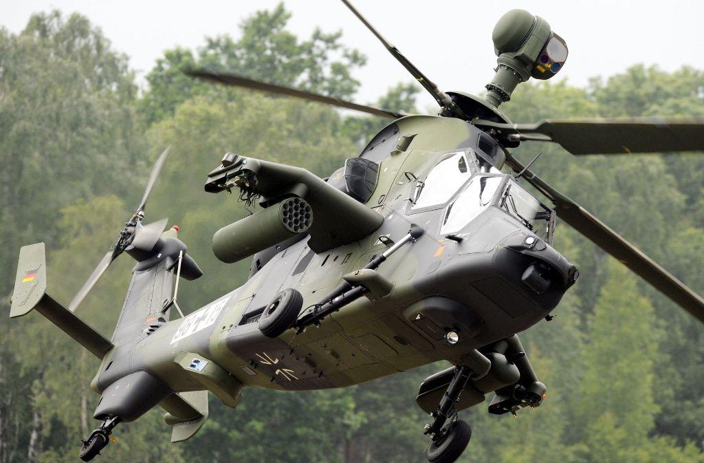Ein Bundeswehrhubschrauber des Typ Tiger ist in Mali abgestürzt. Foto: dpa