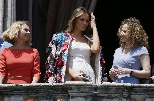 Melania Trump zeigt sich in 50.000-Dollar-Jacke