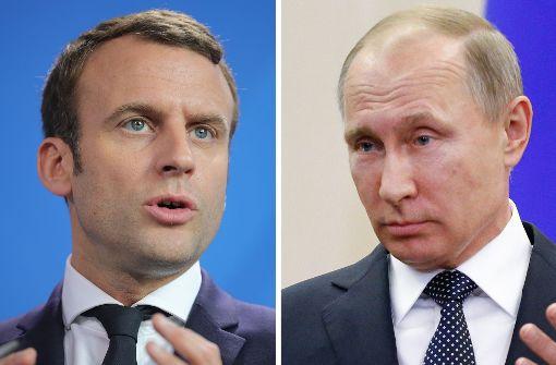 Versailles: Macron empfängt Putin in Versailles