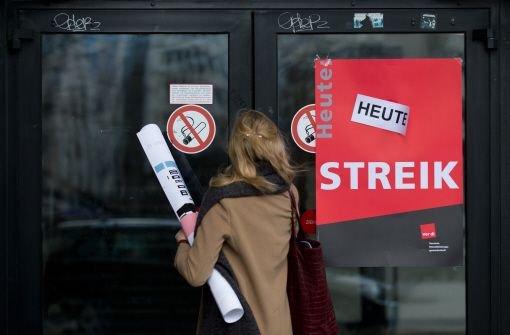 Warnstreiks im öffentlichen Dienst fortgesetzt
