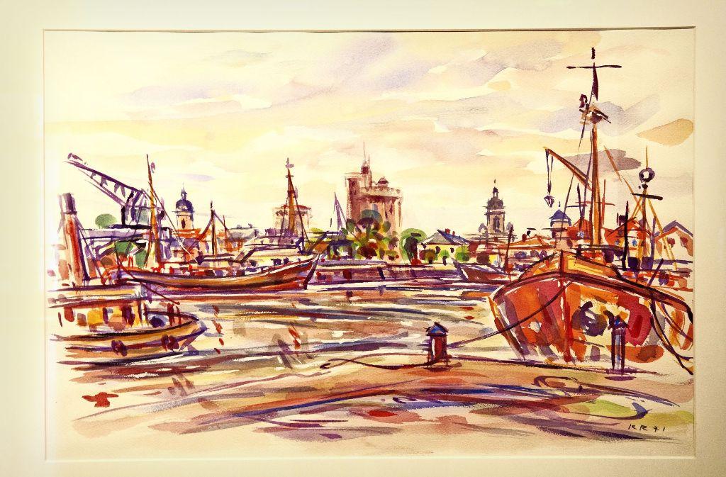 Konrad Raum war ein Künstler und  ein Chronist. Dieses Bild zeigt den Hafen von La Rochelle im Jahr 1971. Foto: Ines Rudel