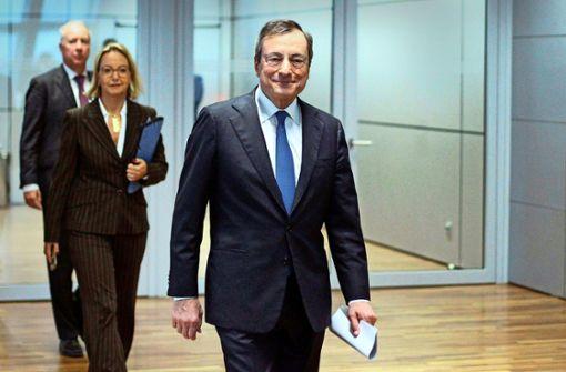 Draghi ist mit sich im Reinen