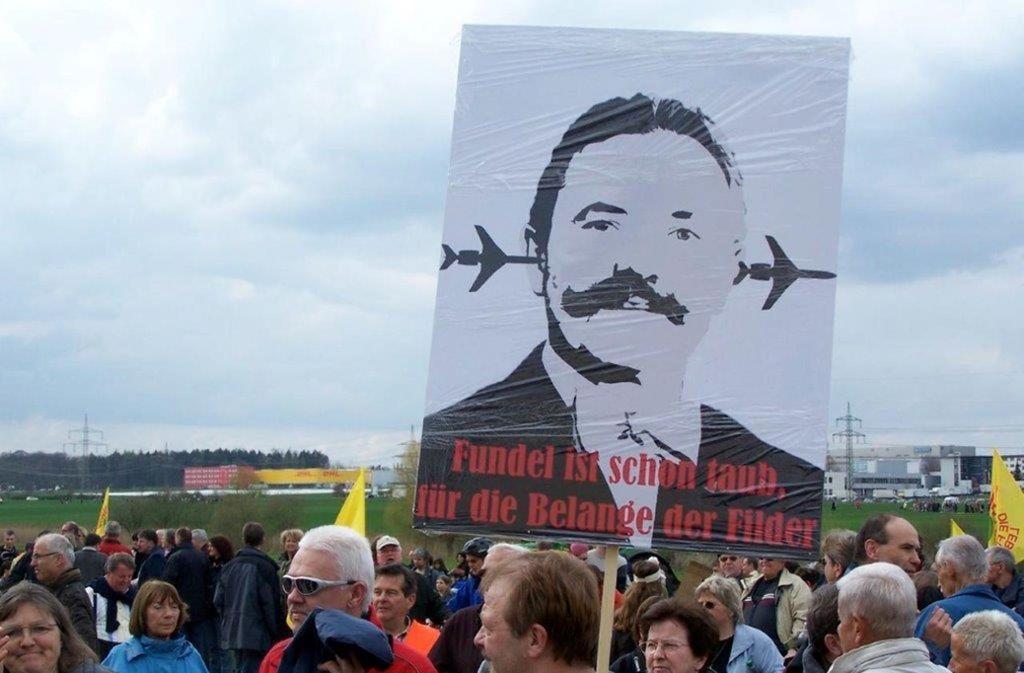 Die Schutzgemeinschaft Filder setzt nicht nur auf plakativen Protest sondern auch auf die Justiz. Foto: Archiv