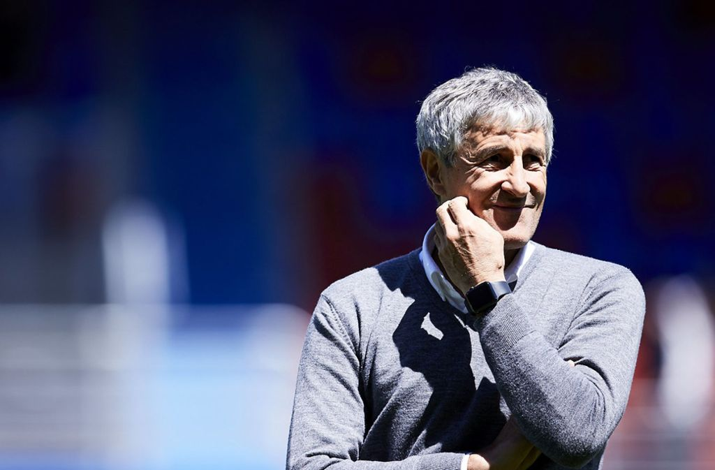 Quique Setién wird Trainer beim FC Barcelona. Foto: dpa/Ion Alcoba Beitia