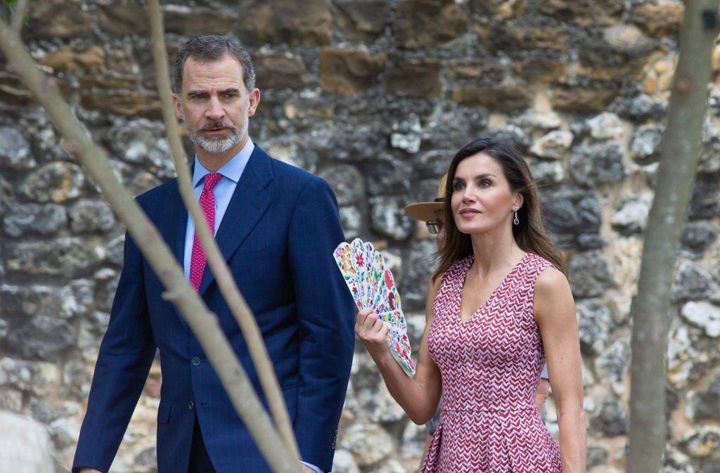 König Felipe und Königin Letizia von Spanien im texanischen San Antonio. Foto: AFP