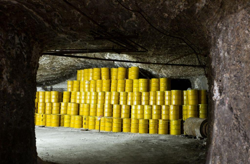 Atommüll im Endlager Morsleben in Sachsen-Anhalt Foto: dpa-Zentralbild