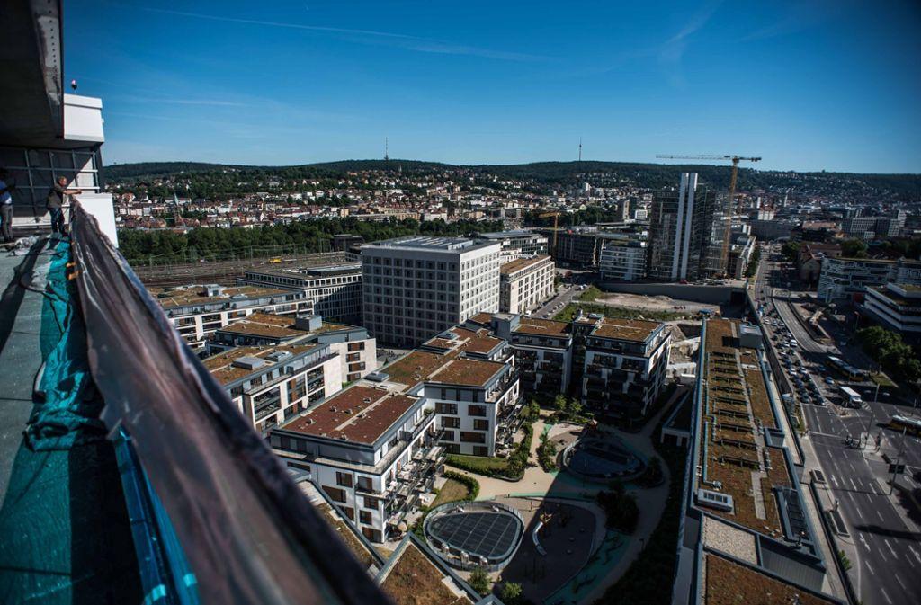 So sieht eine Dachbegrünung in Stuttgart aus. Foto: Lichtgut/Max Kovalenko